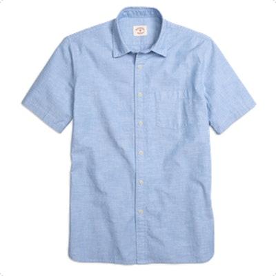 Chambray Short-Sleeve Sport Shirt