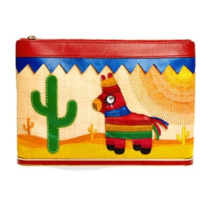 Embroidered Mexicana Ari Clutch