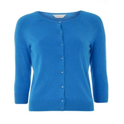 Petite Blue Cotton Cardigan