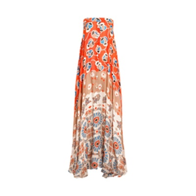Infiniti Printed Silk-chiffon Maxi Dress
