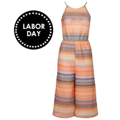 Crochet High Neck Culotte Jumpsuit
