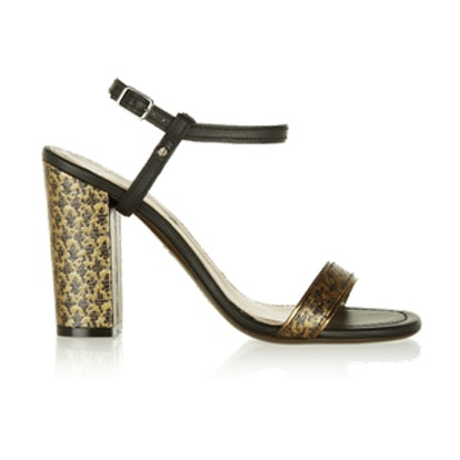 Brocade and Leather Sandals