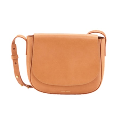 Vegetable Tanned Leather Crossbody Flap Bag