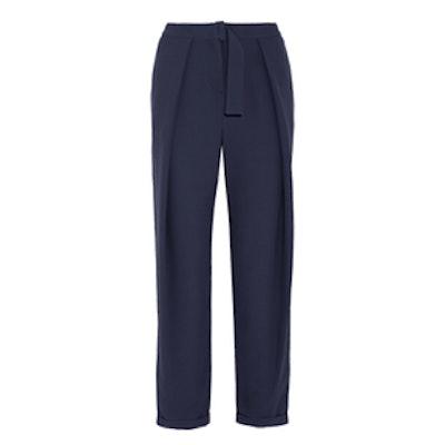 Crepe Wide-Leg Pants