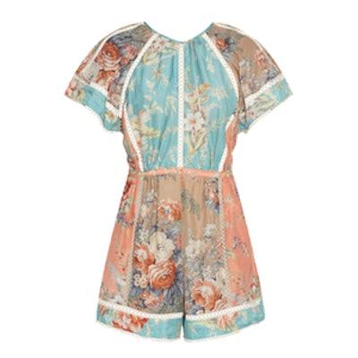 Anais Floral-Print Cotton-Blend Playsuit