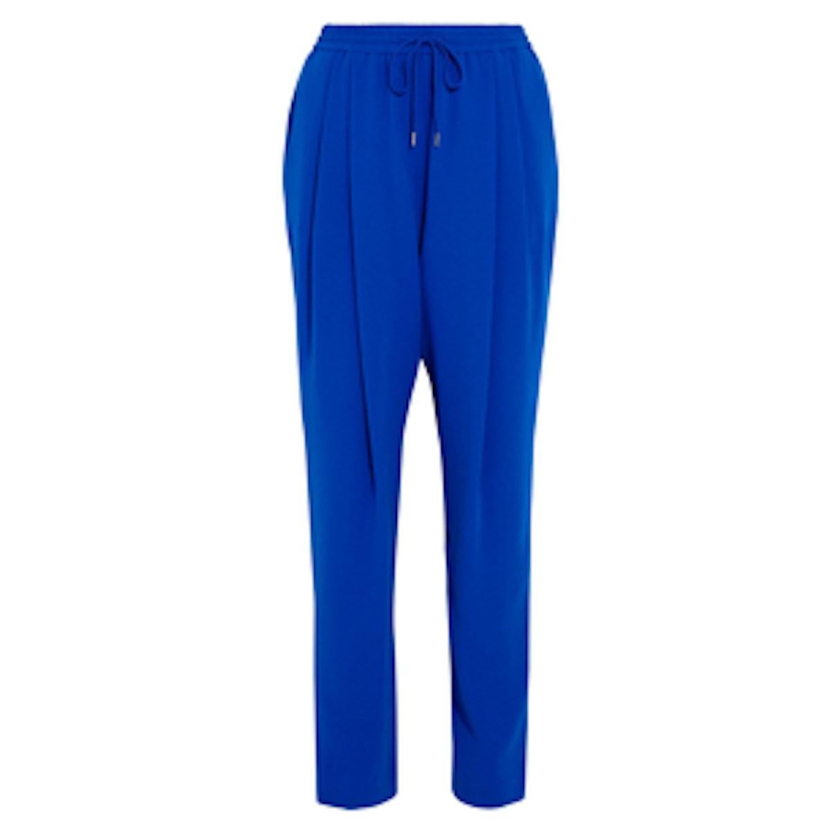 Pleated Crepe Tapered Pants