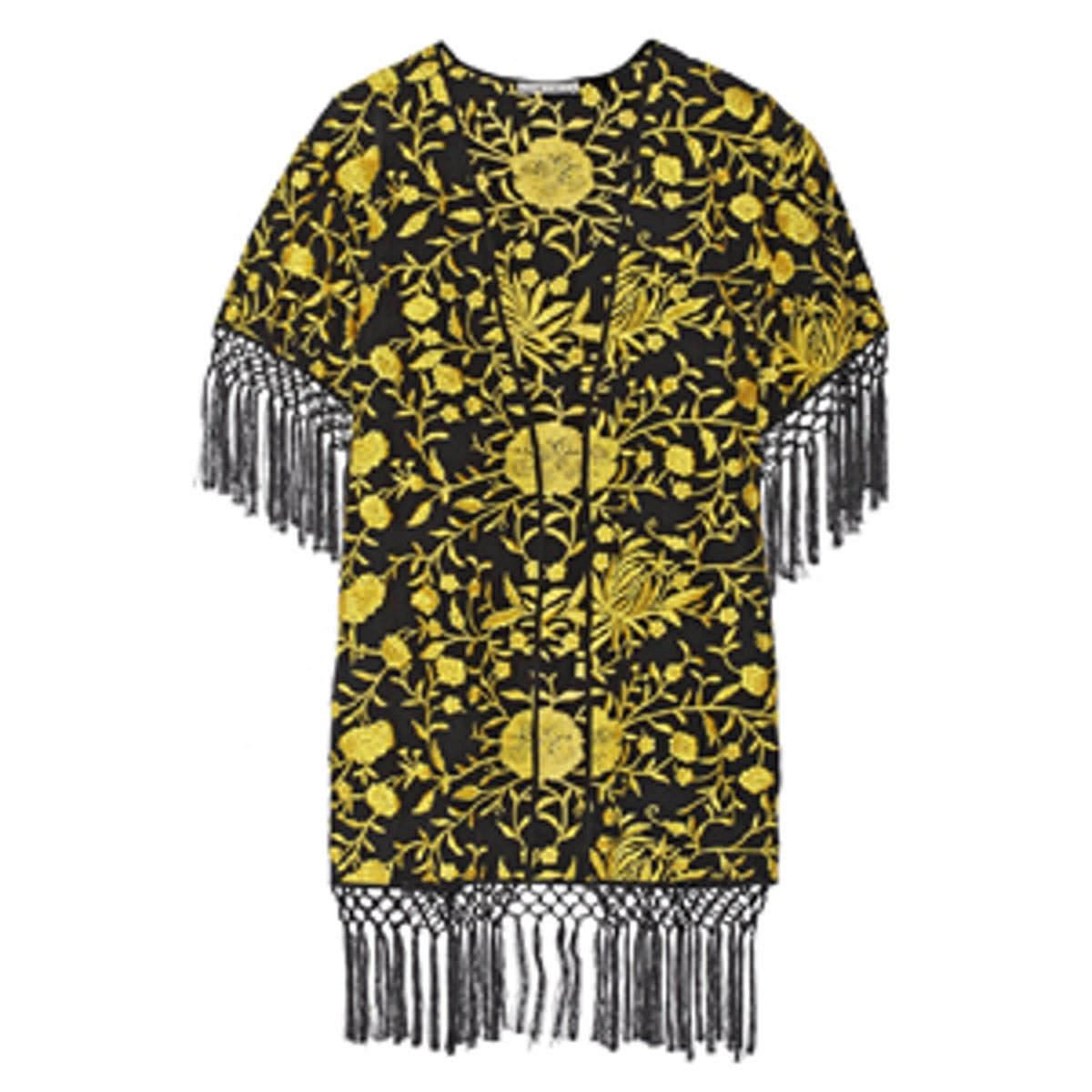 Onella Embroidered Silk Kimono Jacket