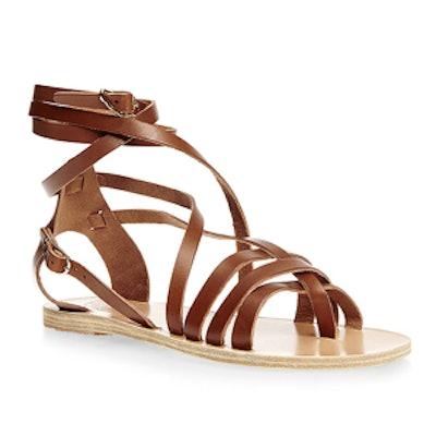 Satira Leather-Wrap Sandals