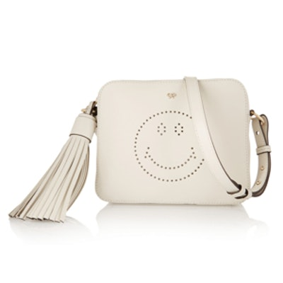 Smiley Perforated Shoulder Bag