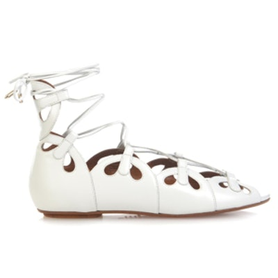 J'Adore Lace-Up Leather Sandals