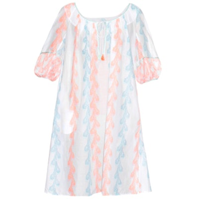 Eva Feather-Print Cotton Dress