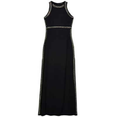Jeannie Embellished-Trim Dress