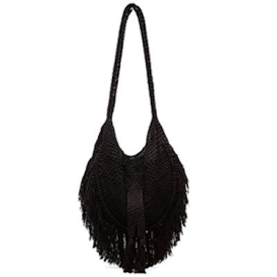 Hand Crochet Fringe Bag