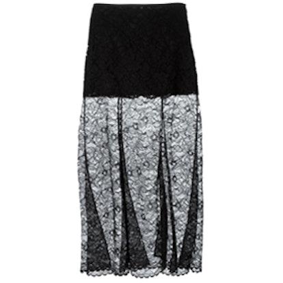 Sheet Lace Maxi Skirt