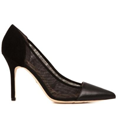 Leather, Suede and Mesh Pumps