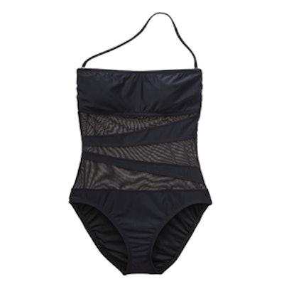 Mesh Insert One-Piece Swimsuit
