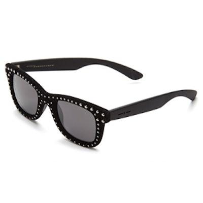 I-V Rock 55mm Studded Square Sunglasses