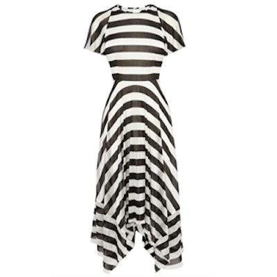 Striped Fluid Jersey Dress