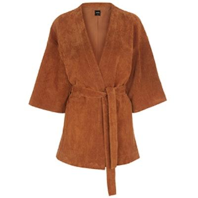 Suede Kimono Sleeve Jacket