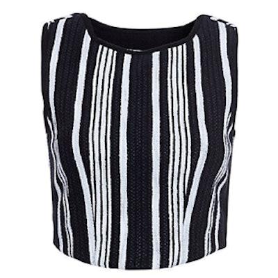 Striped Tweed Crop Top