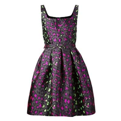 Leopard Jacquard Princess Dress