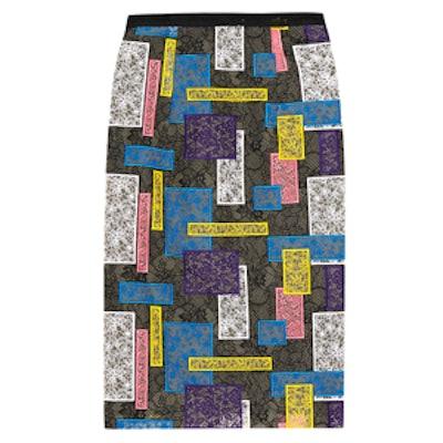 Patchwork Lace Pencil Skirt