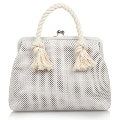 Franc Rope-Trimmed Leather Tote