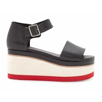 Contrast-Wedge Sandals