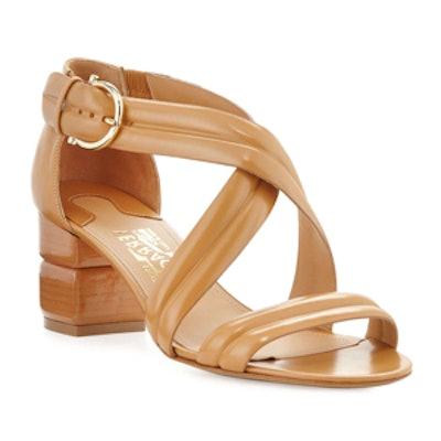 Magis Block-Heeled Leather Sandals