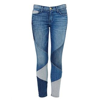Stiletto Patchwork Skinny Jean