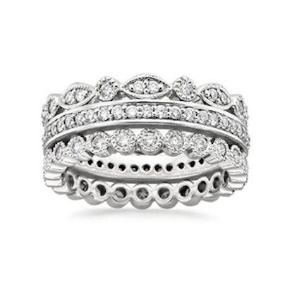 Eternity Diamond Ring Stack