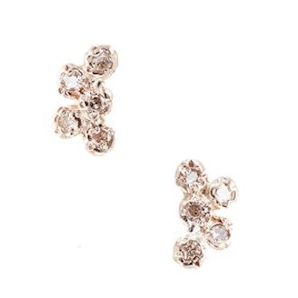 10 Diamond Cluster Studs