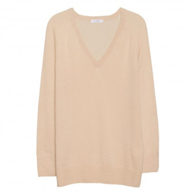 Asher V-Neck Camel Sweater