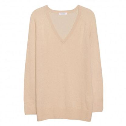Asher V-Neck Camel Sweater