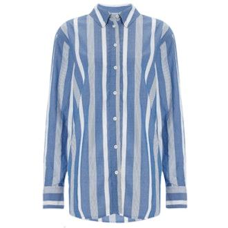 Blue Stripe Cotton Margaux Shirt