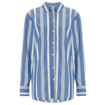 Blue Stripe Cotton Margaux Shirt