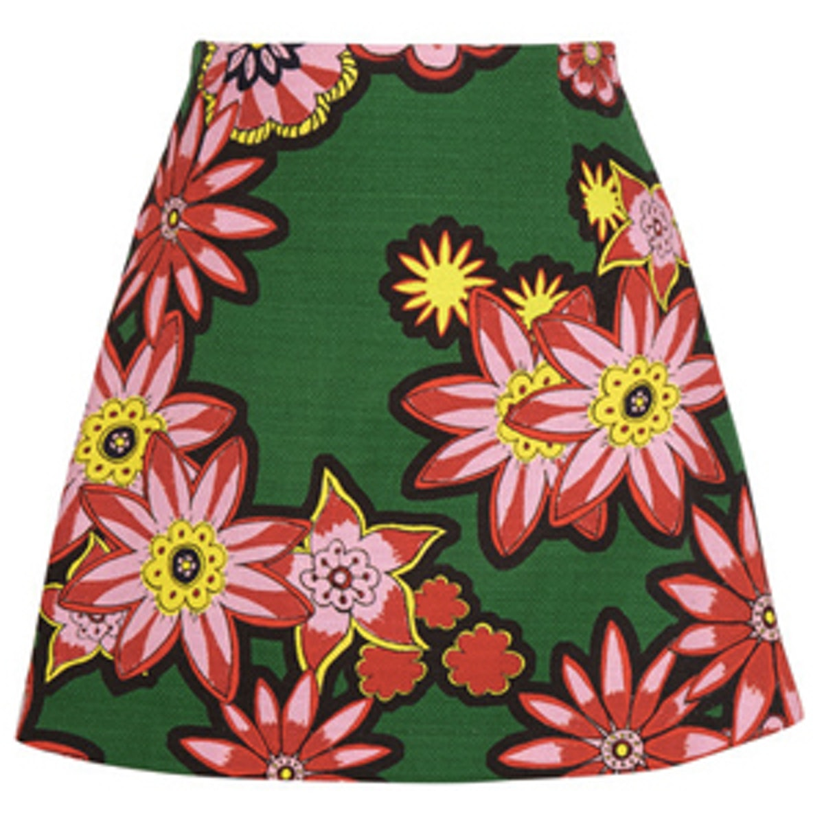 Dolly Floral-Print Woven Cotton Mini Skirt
