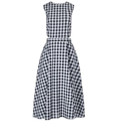 Black Cotton Gingham Dress