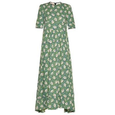 Buttercup-Print Maxi Dress