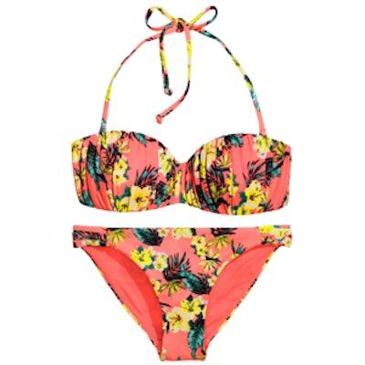 Coral Floral Bikini