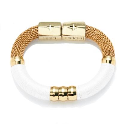 Color-Block Bracelet in White