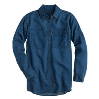 Indigo Gauze Popover Shirt