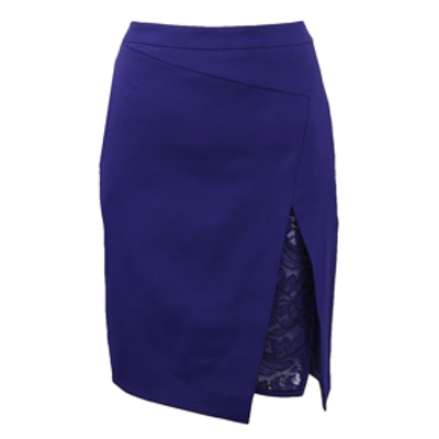 Knee Length Asymmetrical Skirt