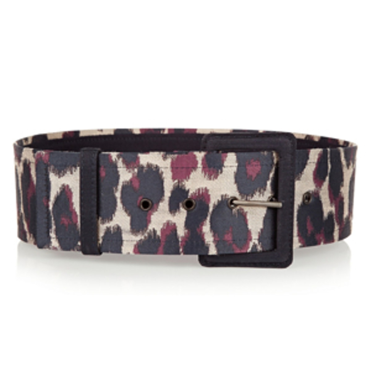 Leopard-Jacquard Belt