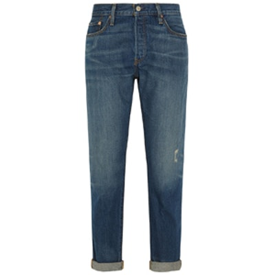 501 CT Mid-Rise Straight-Leg Jeans