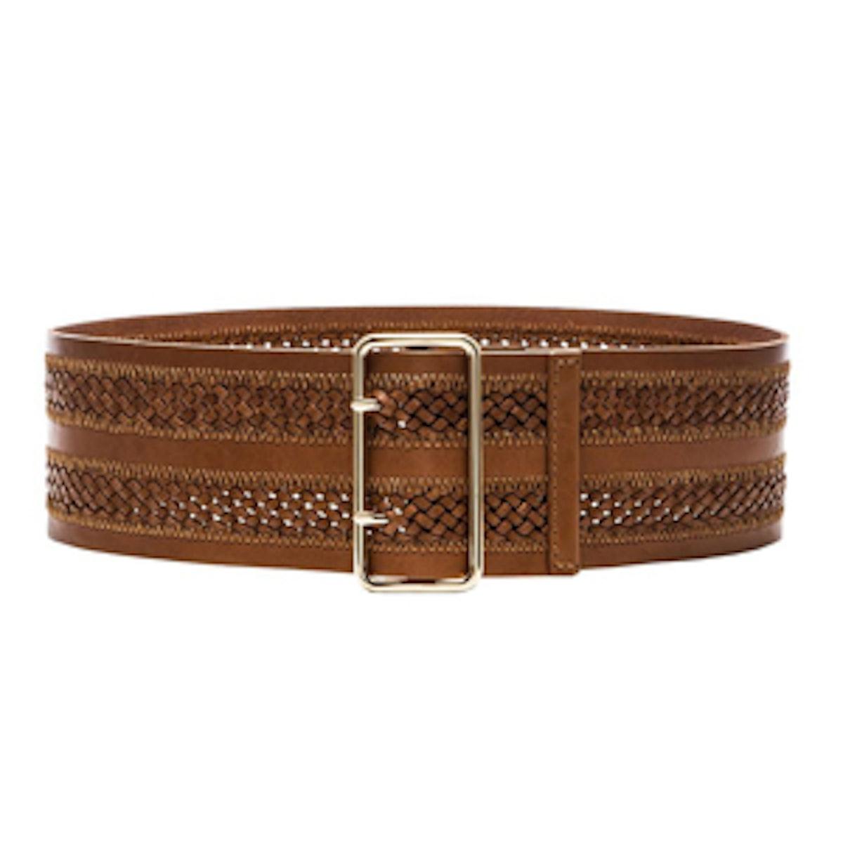 Wide Double-Braided Belt