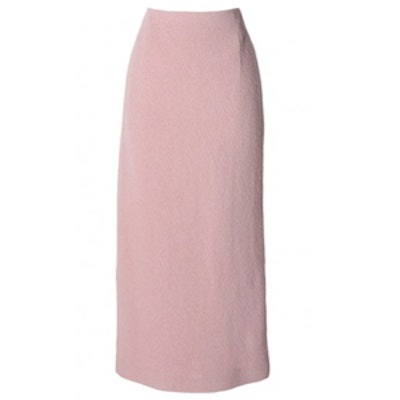 Plush Wool Pencil Skirt