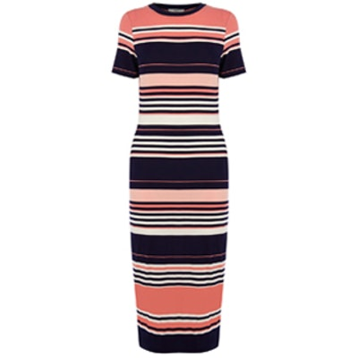 Stripe Midi Dress