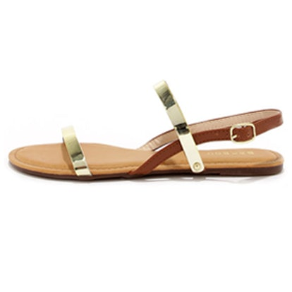 Gold Jelly Flat Sandals