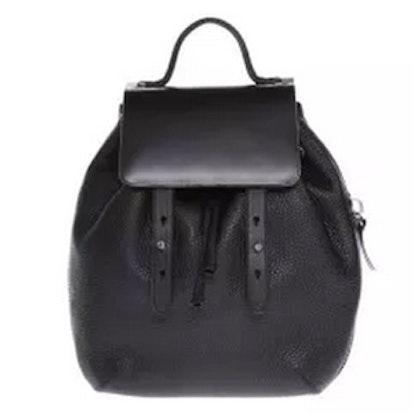 Croydon-S5 Black Leather Unisex Backpack